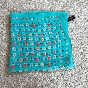 NWT, adrienne vittadini floral silk scarf